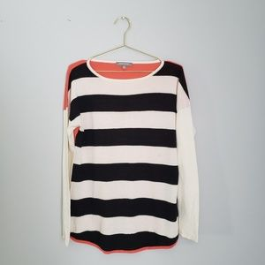 Neiman Marcus Cashmere Collection stripped sweater